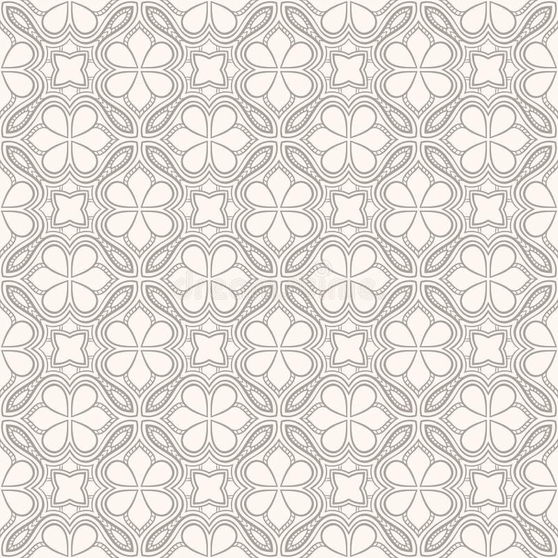 Download Grijs En Beige Bloemenpatroon Vector Illustratie - Illustratie bestaande uit illustraties, bloem: 39102185