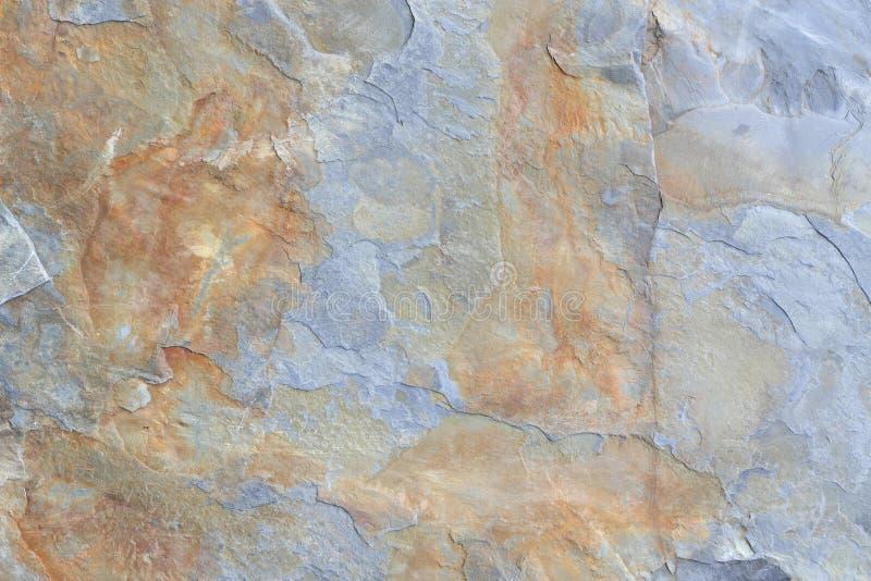 Grijs en bruin blok van de textuur van de schaliesteen stock afbeeldingen