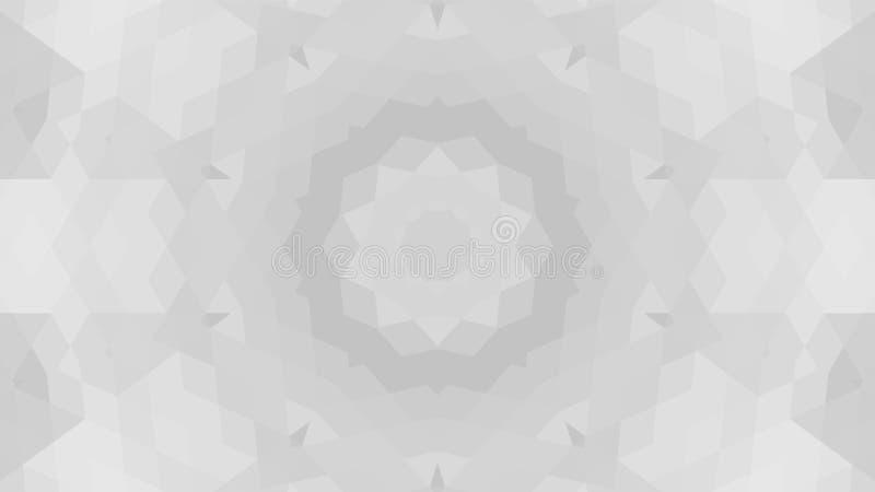 Grijs geometrisch ontwerp, grijze abstracte achtergrond Mozaïek van een vectorcaleidoscoop, Patroon voor bedrijfsadvertentie, boe vector illustratie