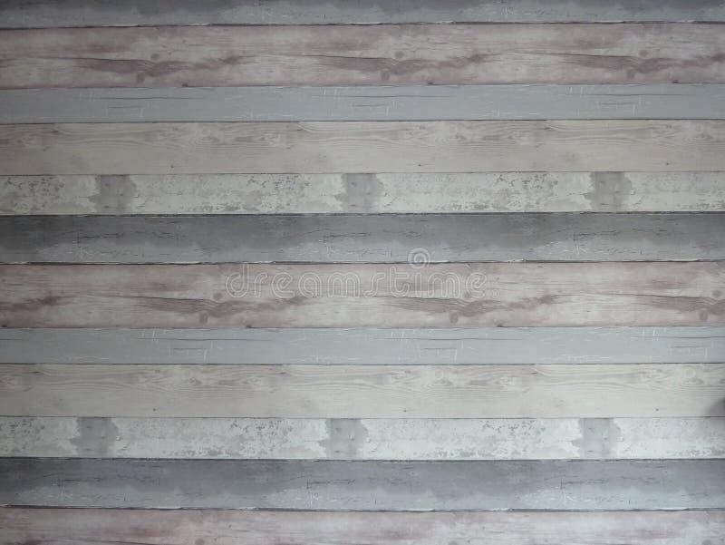 Grijs gestreept verontrust houten effect behang royalty-vrije stock fotografie