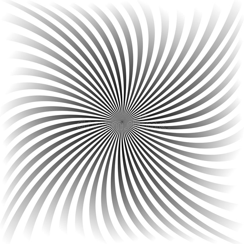 Grijs gradiënt spiraalvormig ontwerp als achtergrond royalty-vrije illustratie