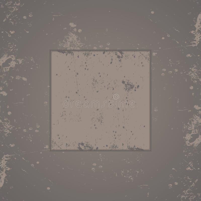 Grijs grungeframe als achtergrond vector illustratie