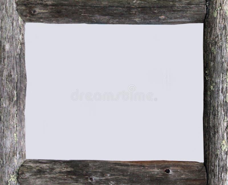 Grijs houten frame royalty-vrije stock foto's