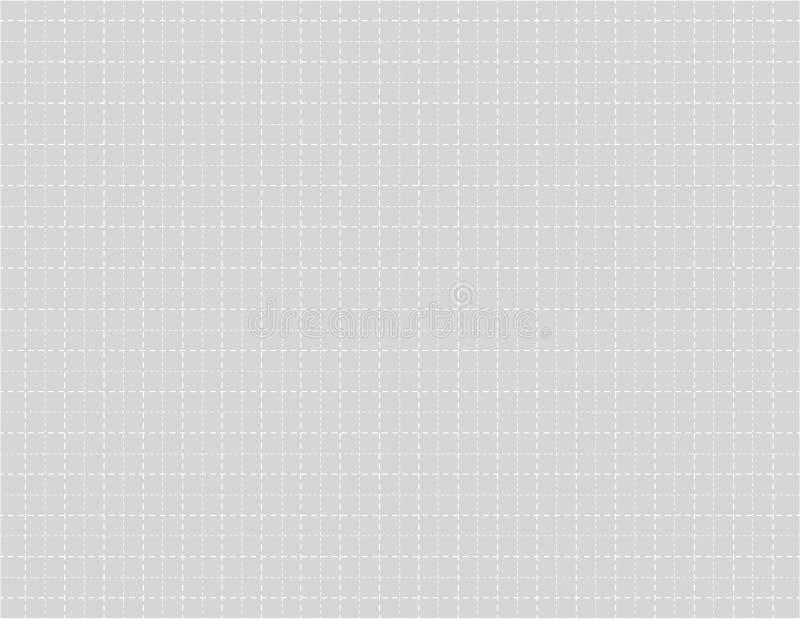 Grijs kleurenmillimeterpapier met gestormde lijnen voor het trekken van vectorillustratie royalty-vrije illustratie