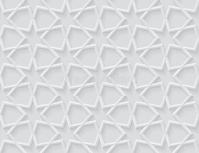 Grijs licht geometrisch patroon in Arabische stijl royalty-vrije illustratie