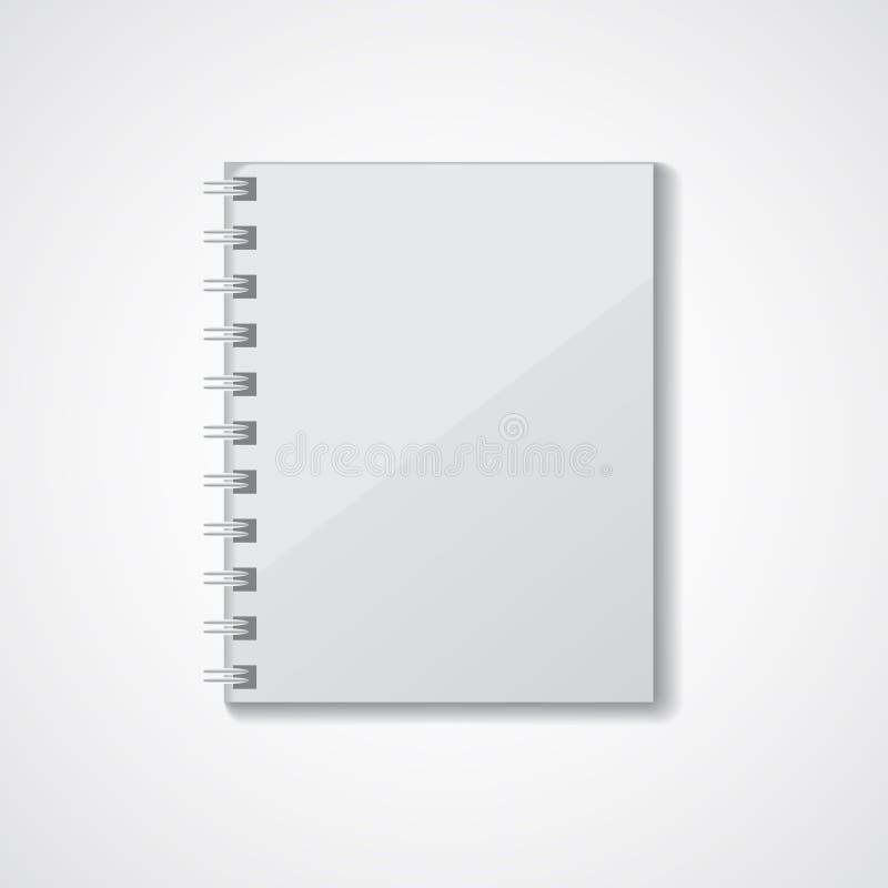 Grijs notitieboekje stock afbeelding