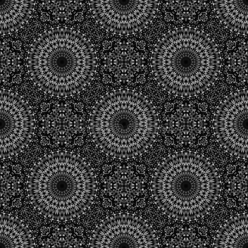 Grijs oosters abstract Boheems bloemenpatroonontwerp als achtergrond vector illustratie