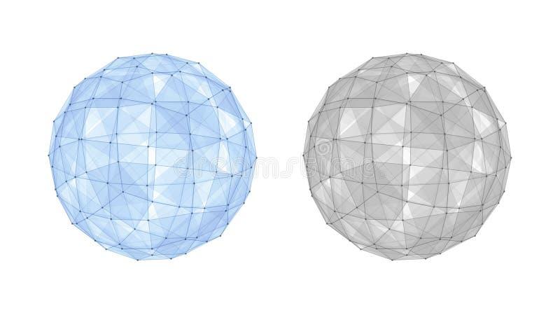 Grijs vector laag polyontwerpelement royalty-vrije illustratie