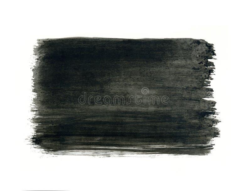 Grijs waterverfkader, zwarte daling op witte achtergrond royalty-vrije illustratie