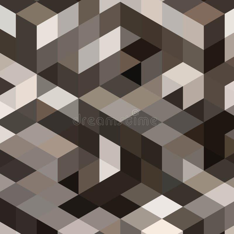 Grijze achtergrond met kubussen en vierkanten - Vektorgrafik Eps 10 stock illustratie
