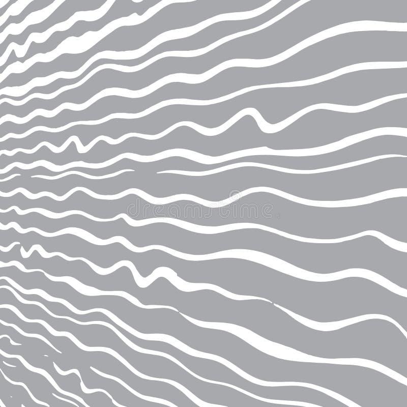 Grijze achtergrond met witte hand-drawn golflijnen vector illustratie