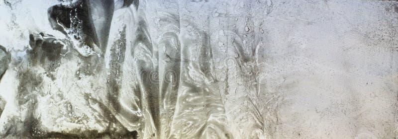 Grijze bionische en aardpatronen door verfvlekken op papier - marbl royalty-vrije stock afbeelding