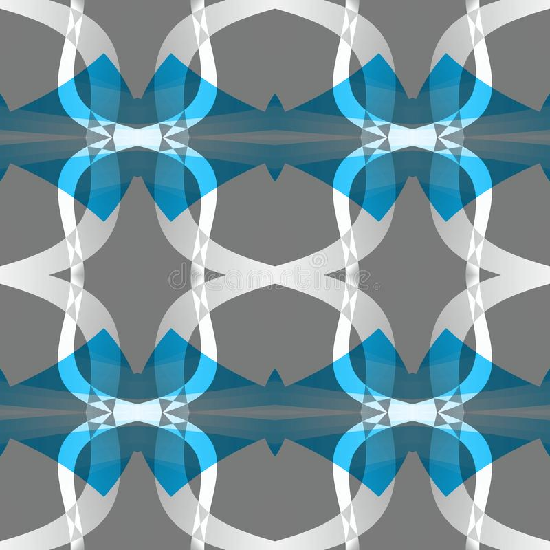 Grijze blauwe witte moderne abstracte textuur Eenvoudige Illustratie Als achtergrond De steekproef van het de stoffenontwerp van  vector illustratie