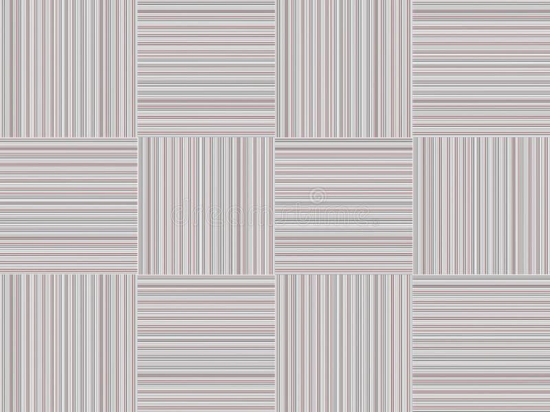 Grijze blokken vierkante strook en contrast rode karmozijnrode lichte geometrische dunne lijnen stock illustratie