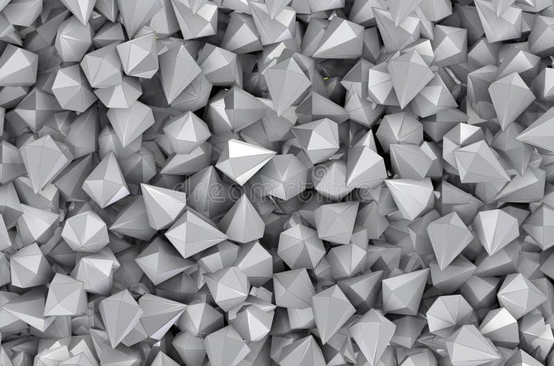 Grijze diamanten in strakke ruimte stock illustratie