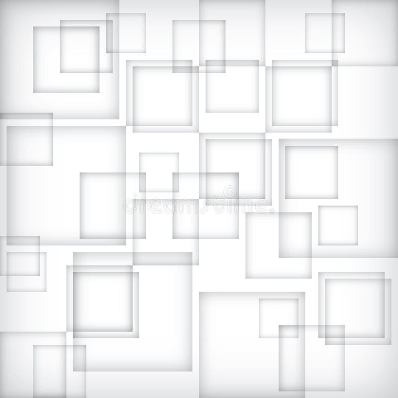 Grijze doosbanner in tabelvorm Vierkante grijze blokachtergrond Het behang van de gradiëntschaduw Wit vensterpatroon royalty-vrije illustratie