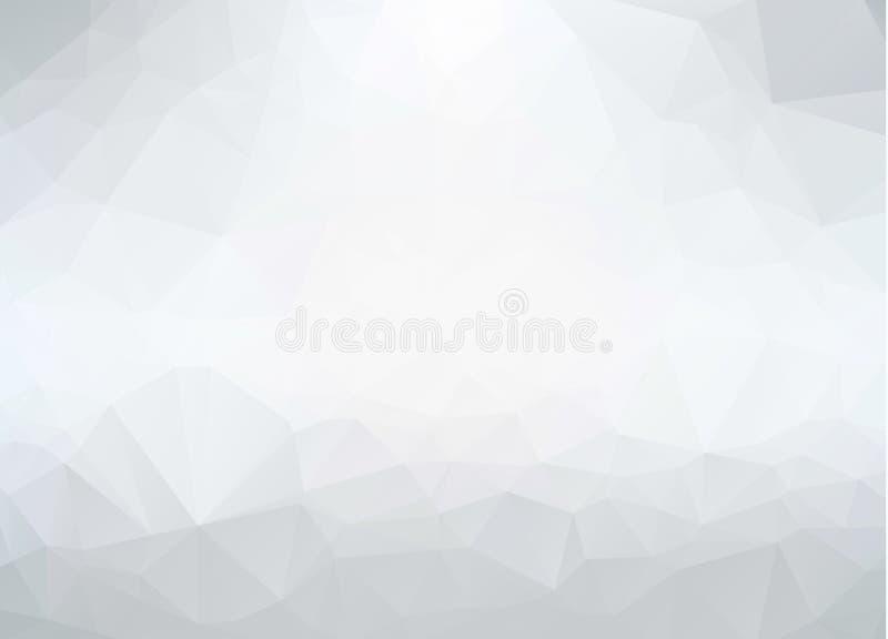 Grijze driehoekige abstracte achtergrond In vectorillustratie Abstracte Veelhoekige Mozaïekachtergrond, Creatieve Ontwerpmalplaat royalty-vrije illustratie