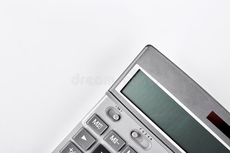 Grijze elektronische calculator, bebouwd beeld royalty-vrije stock fotografie