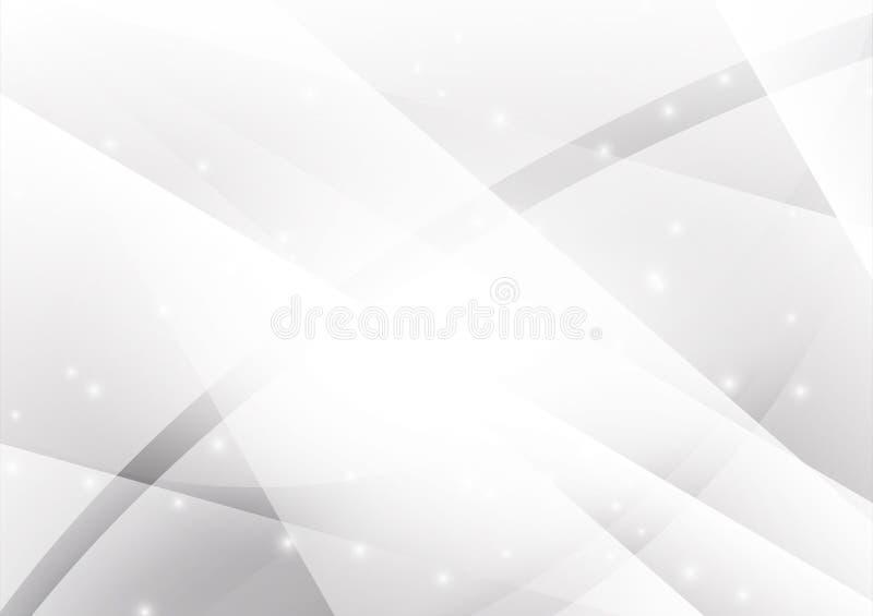 Grijze en Zilveren geometrische abstracte vectorachtergrond met exemplaar ruimte, Grafisch ontwerp royalty-vrije illustratie