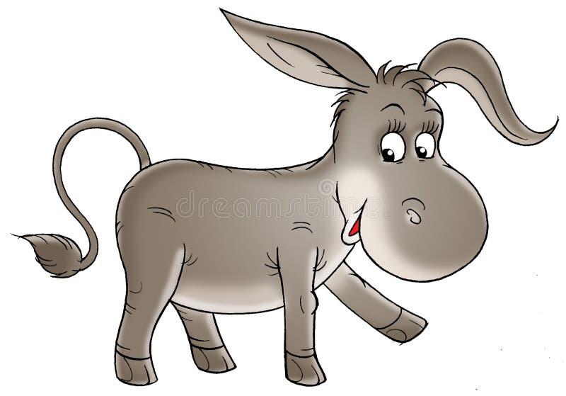 Grijze ezel vector illustratie