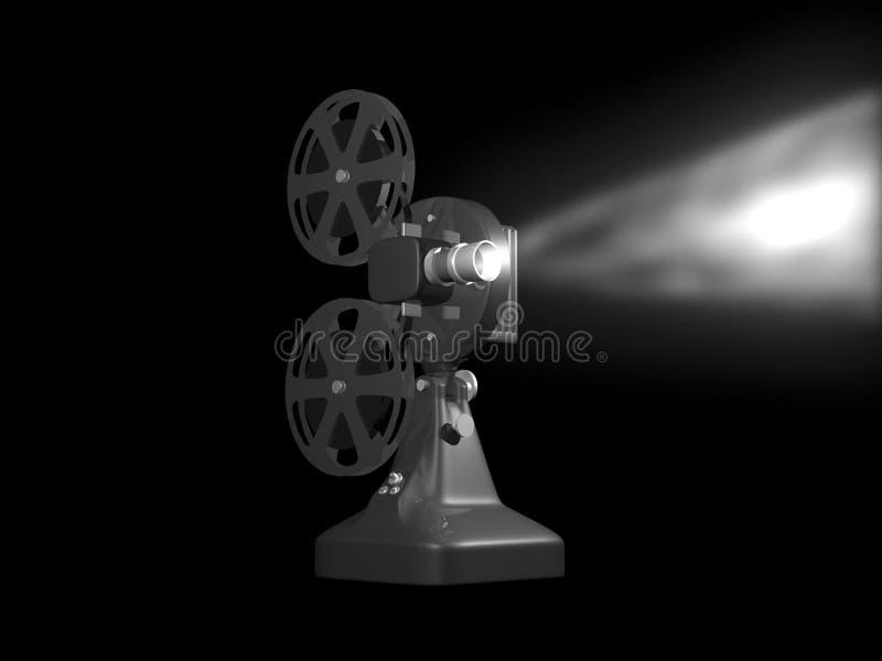 Grijze filmprojector royalty-vrije illustratie