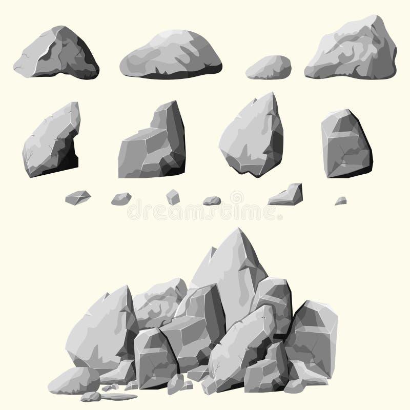 Grijze geplaatste stenen vector illustratie