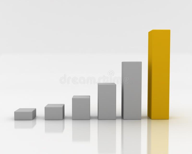 Grijze grafisch met gouden  stock illustratie