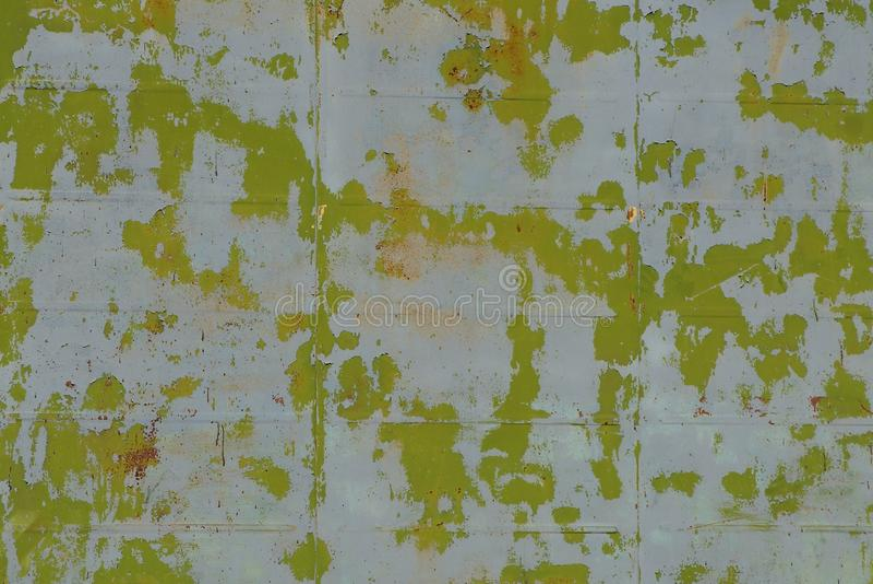 Grijze groene verftextuur op oude stichtingsmuur stock foto's