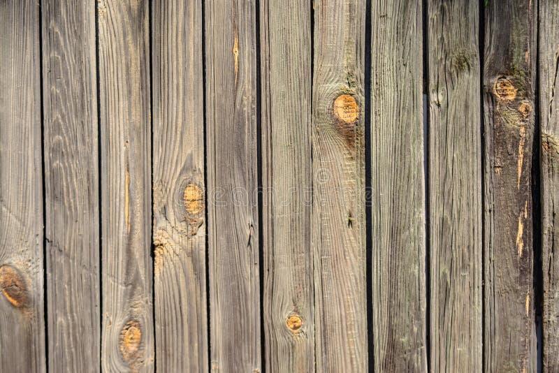Grijze houten oude planking achtergrond met barsten royalty-vrije stock afbeelding