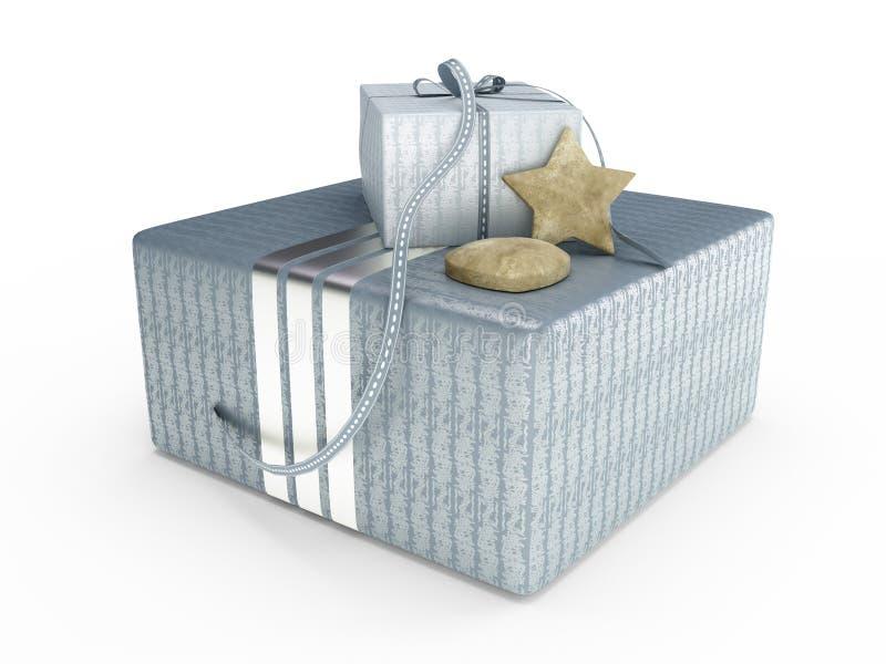 Grijze huidige doos 3D illustratie royalty-vrije stock fotografie