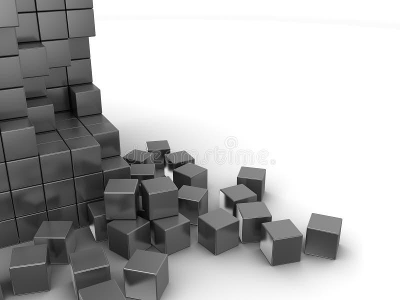 Grijze kubussenachtergrond stock illustratie