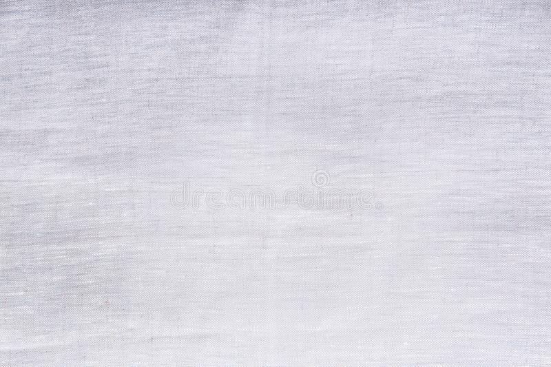 Grijze linnentextuur Hoogste mening en exemplaarruimte Spot omhoog Patroon Malplaatje en lege achtergrond stock afbeelding