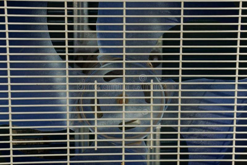 Grijze metaaltextuur van de grill op de ventilator royalty-vrije stock fotografie