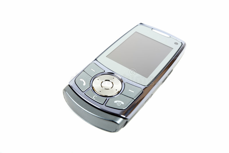 Grijze mobiele telefoon royalty-vrije stock fotografie