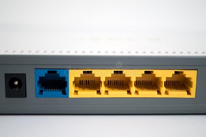 Grijze modem op een witte achtergrond royalty-vrije stock afbeelding