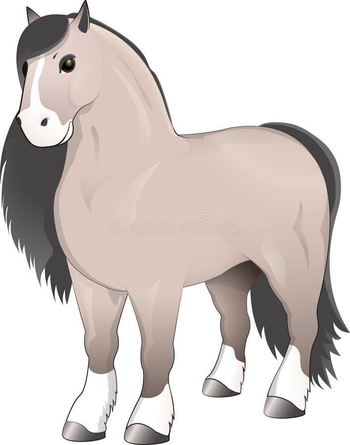 Grijze paard status stock illustratie