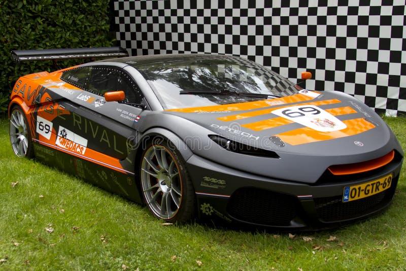 Grijze Primitieve supercar Rivale GTR stock fotografie