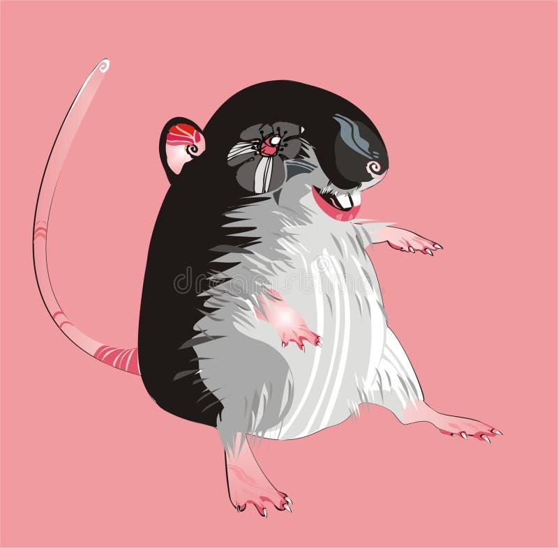 Grijze rat stock illustratie
