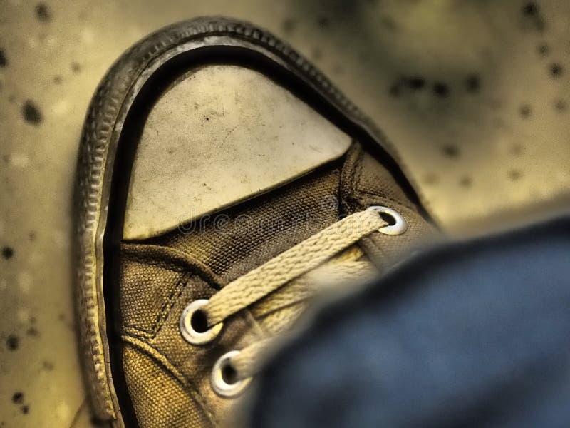 Grijze schoen stock foto's