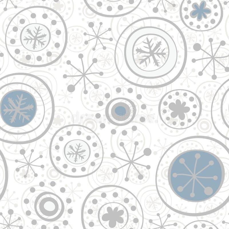 grijze sneeuwvlokken op wit royalty-vrije illustratie