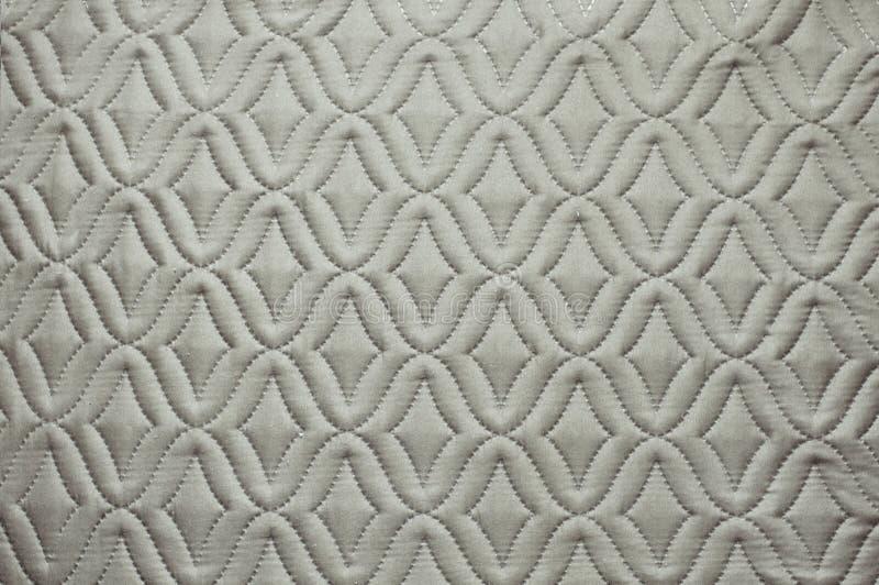 Grijze stof met abstract patroon voor achtergrondafbeelding stock foto's