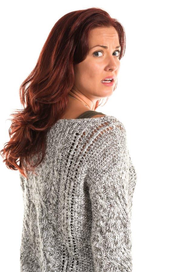 Grijze sweater royalty-vrije stock afbeeldingen