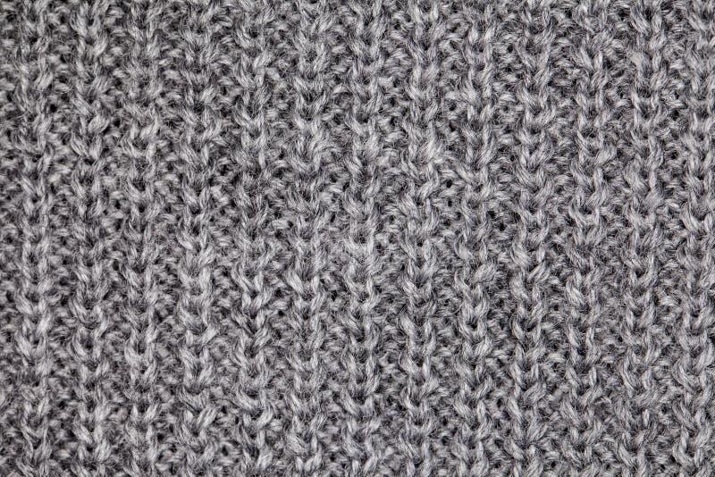 Grijze sweatermacro royalty-vrije stock afbeelding