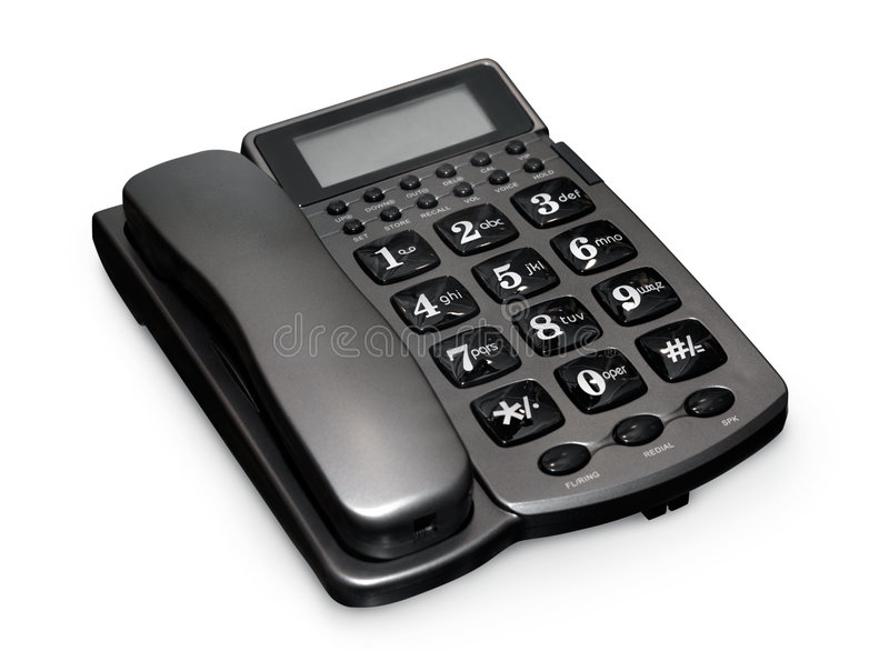 Grijze telefoon stock fotografie