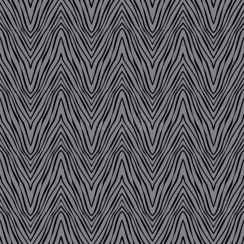 Grijze zigzag naadloze textuur, vector stock illustratie