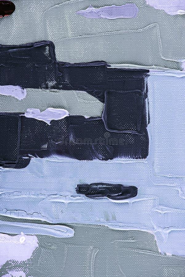 grijze, zwarte en blauwe borstelslagen op samenvatting stock afbeelding
