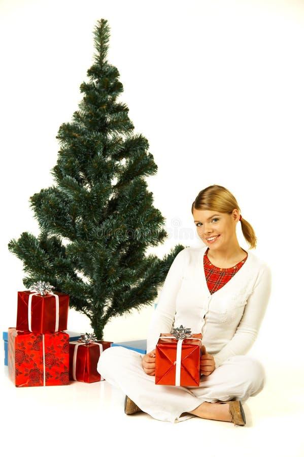 gril рождества стоковые фото
