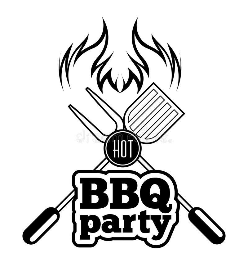 Gril de barbecue illustration stock