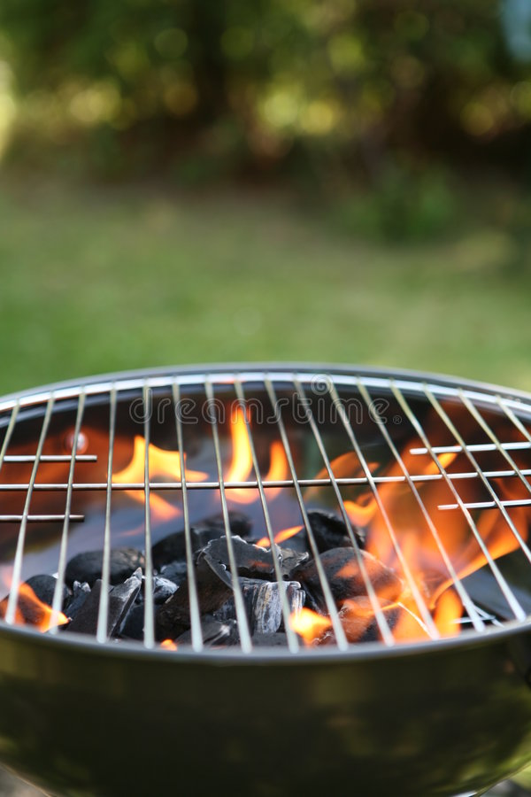gril de barbecue d'arrière-cour image libre de droits
