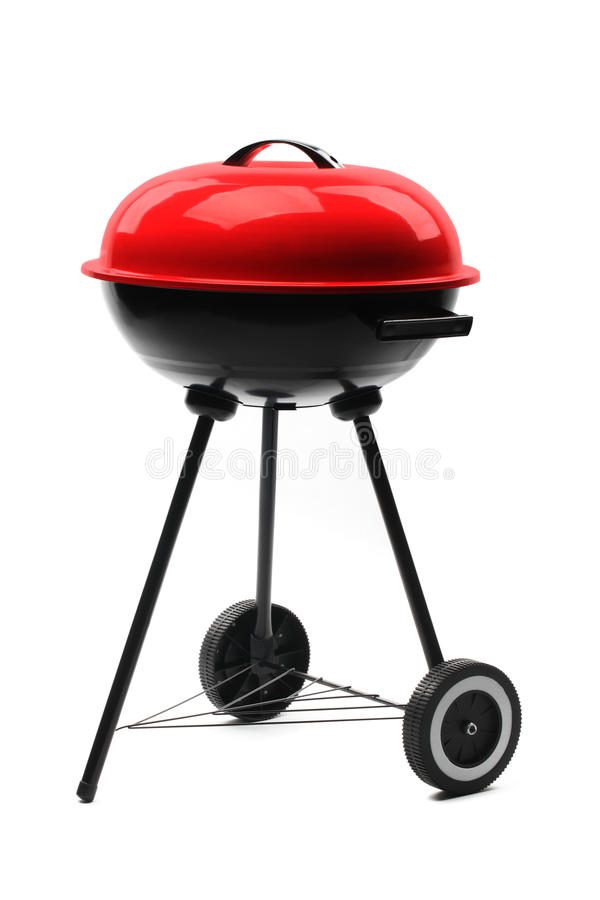 Gril de barbecue de bouilloire avec le cache images libres de droits